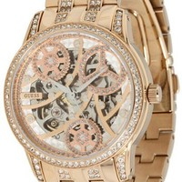 GUESS Women's U30003L1 Automatic Self Wind Rose Gold-Tone Watch