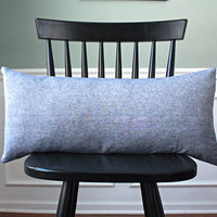 Indigo Blue Linen Blend Pillow Cover