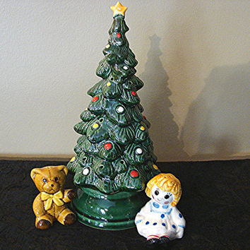 1970s ceramic christmas tree canape from treasurespast4u for Canape holders