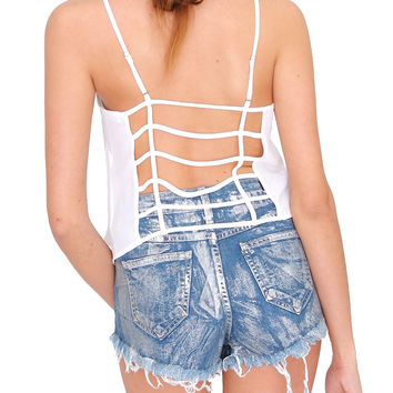 Candy Love Cami Crop Top White
