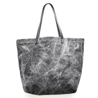 Oversize Black Marble Tote