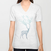 Blue Deer Unisex V-Neck by Huebucket | Society6