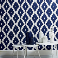 Self adhesive vinyl temporary removable wallpaper, wall decal - Ikat pattern  - 041