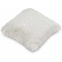 Walmart: Mongolian Fur Decorative Pillow, Ivory