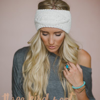 Ivory Cable Knitted Headband