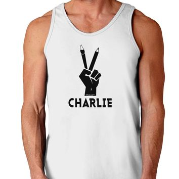 Hand Peace Sign - Charlie Design Loose Tank Top  by TooLoud