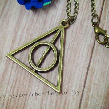 harry potter necklace, pendant jewelry, personalized jewelry gift friendship, Christmas gifts