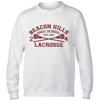 beacon hills print Male Sweatshirts