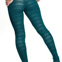 Dance & Yoga  Sexy Hipster Tights Stretch Knit Shadow Stripe Unique Mesh KD dance Made In USA