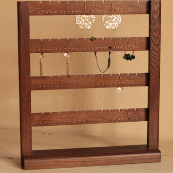 Jewelry holder - Earring holder - Jewelry organizer Stand  72 Pairs of Earrings