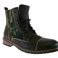 New 808561A Army Camouflage Print Military Combat Style Zipped Boots