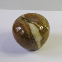 Lovely Handcrafted Multicolored Brass Stemed Onyx Apple