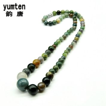 Natural Water Agate/White Turquoise/Amber/Amethyst/Topaz  Mixed Assort Color Necklace