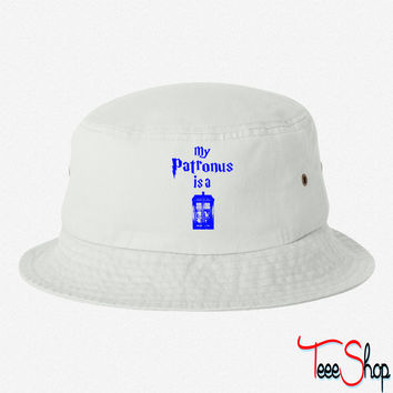 my patrons is a tardis bucket hat