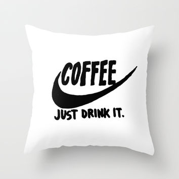 Coffee Throw Pillow by Hand Drawn Type