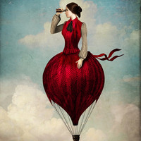 The Pleasure of Travelling Art Print by Christian Schloe