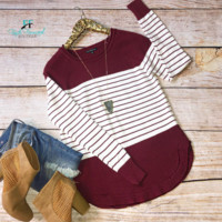 Play by the Rules Maroon Sweater