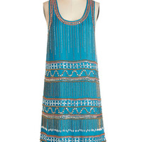 ModCloth Vintage Inspired Mid-length Sleeveless Shift Speakeasy with Confidence Dress