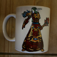 PERSONALISED WOW MUG your world of warcraft character on your mug.