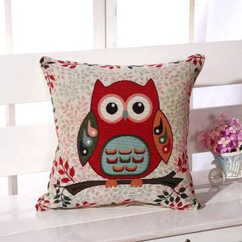 Cartoon Handmade Owl Home Decor Pillow Decorative Throw Pillows Cute Drawing 4