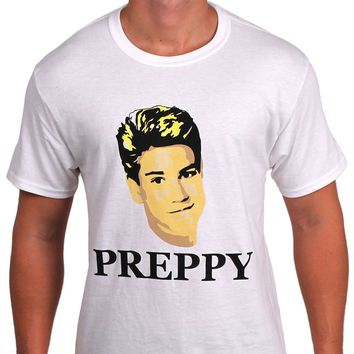 80's Prep Tee in White by So Fr@ - FINAL SALE