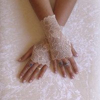 free ship wedding gloves champagne french lace gloves bridal  gloves lace gloves fingerless gloves gauntlets guantes prom party bridesmaid