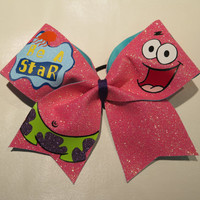 """3"""" width """"Be A Star"""" Patrick Star Cheer Bow"""