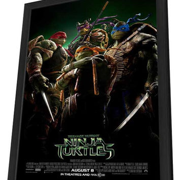 Teenage Mutant Ninja Turtles 11x17 Framed Movie Poster (2014)