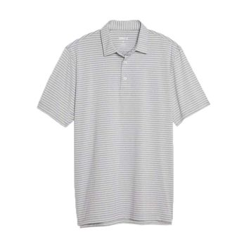 Barrett Striped Prep-Formance Jersey Polo in Meteor by Johnnie-O