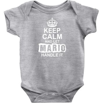 Keep Calm And Let Mario Handle It Baby Onesuit