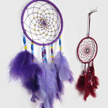 6'  Purple Dream Catcher. Native Decor. Native American Art. Large Dream Catcher.