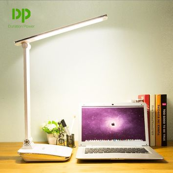 Duration Power White Foldable Desk Lamps 48 LED Rechargeable Table Lamps Office Reading Touch Dimmer Lamps LED Light Table Lamps