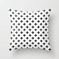 Crosses Throw Pillow by Marcegaral