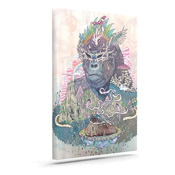 "Mat Miller ""Ceremony"" Fantasy Gorilla Canvas Art"