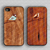 Bird and Wood iPhone 4 Case, iPhone 4s Case, iPhone 4 Hard Plastic Case,Personalized iPhone Case --waterproof