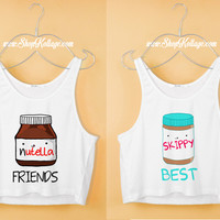 Nutella Skippy BFF Crop Tank Top