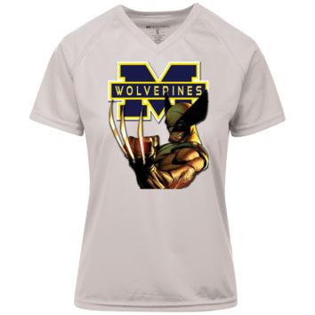 Michigan Wolverines Custom Designed Ladies Holloway Zoom Shirt