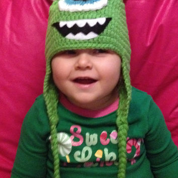 Wazowski - Monsters Inc./ University Beanie/ Hat - Any Size