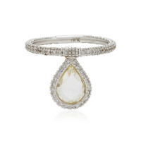 Diamond and 18K White Gold Flip Ring | Moda Operandi