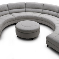 Pavoncello Rotunda, 3-Piece Round Sectional - contemporary - sectional sofas -  - by Wasser's