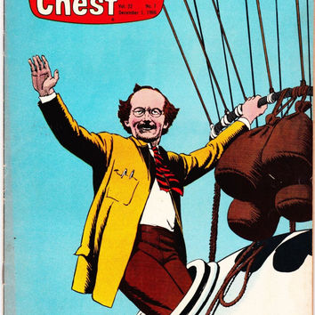 Vintage Treasure Chest Comic Book By George A Pflaum Volume 22 Number 7 December 1 1966