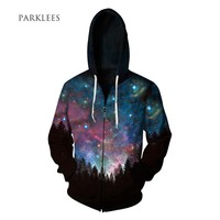 Galaxy All Over Print Hoodies - Men's Novelty Hooded Tops