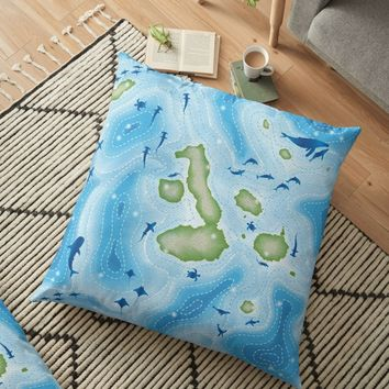 ' Enchanted Islands' Floor Pillow by miavaldez
