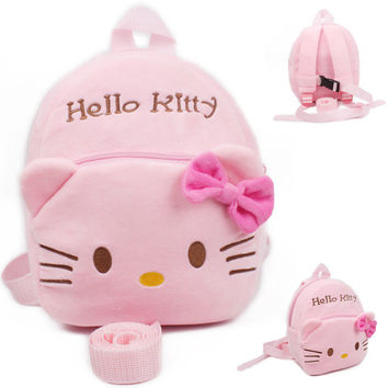 lovely hello kitty Baby harness kids keeper children Backpacks for baby girl Strap Bag Anti-lost bag Walking Wings 1-3years kids