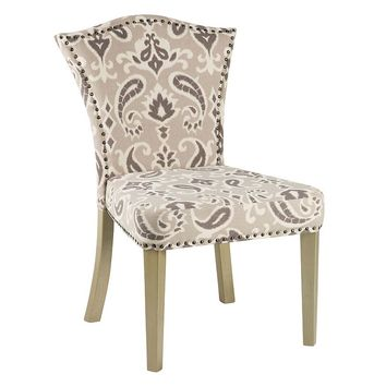 Bombay Adriel Ikat Crown Accent Chair