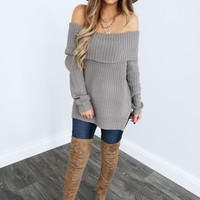 Take Forever Sweater: Grey