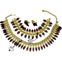 CORO Pegasus Lucite Necklace Bracelet Earrings SET - Original Tags