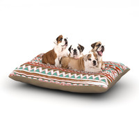 "Nika Martinez ""Boho Mallorca"" Red Multicolor Dog Bed"