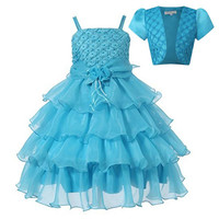 Girl Dress 2PCS Dress+Jacket Princess Party Kids Costume Baby Girls Clothes High Quality Birthday Children Clothing