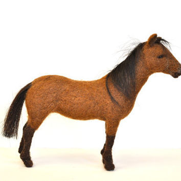 Needle Felted animals Needle felted Horse by BearCreekDesign